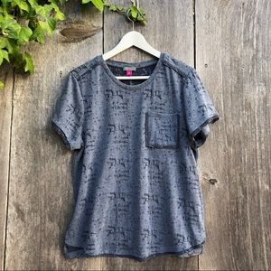 Vince Camuto blue burn-out Tee